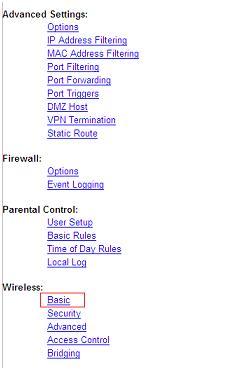 Cisco 2425 or 3925 Wireless Settings - Virgin Media Ireland