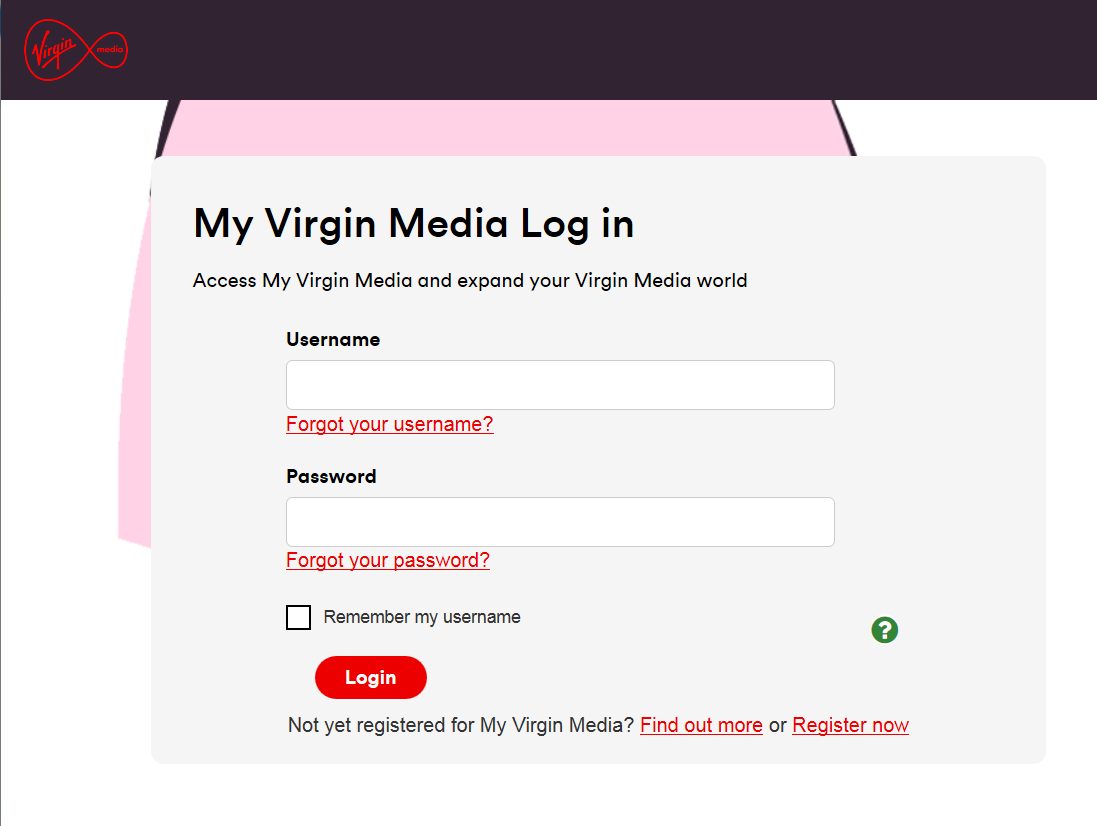 Virgin media games login