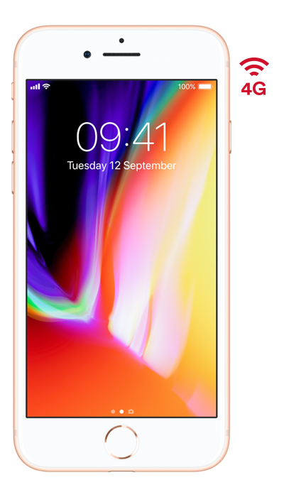 virgin media iphone 8 gold