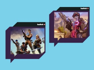Composite image featuring stills from Overwatch and Fortnite